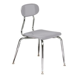 180 Series Solid Plastic Stack Chair - Light Gray