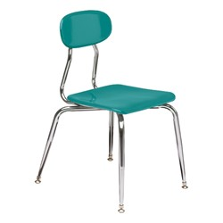 180 Series Solid Plastic Stack Chair - Teal