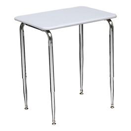 2700 Series Adjustable Student Desk w/ Solid Plastic Top - Gray