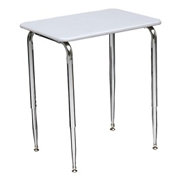 2700 Series Adjustable Student Desk w/ Solid Plastic Top - Gray