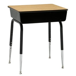 2900 Series Adjustable Height School Desk - Shown w/ Fiberboard Top