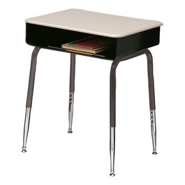 2900 Series Adjustable Height School Desk - Solid Plastic Top