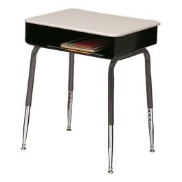 2900 Series Adjustable Height School Desk - Solid Plastic Top