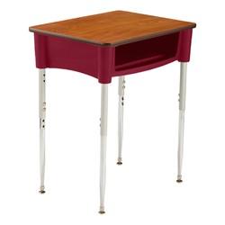 Ovation Series Open Front Desk in burgundy