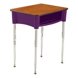 Ovation Series Open Front Desk in purple