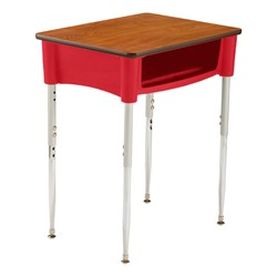 Ovation Series Open Front Desk in red
