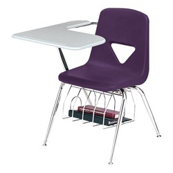 420 Series Polyethylene Shell Tablet Arm Desk - Solid Plastic Top - Purple
