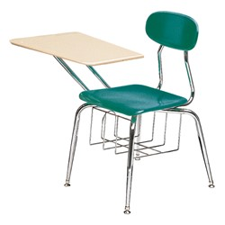 "580 Series Solid Plastic Chair Desk - Solid Plastic Top (17 1/2"" Seat Height) - Teal seat"