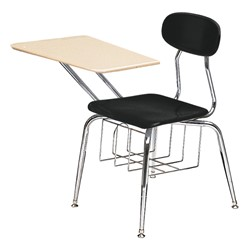 "580 Series Solid Plastic Chair Desk - Solid Plastic Top (17 1/2"" Seat Height) - Black seat"