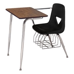 """620 Series Combo Desk w/ Extra-Large Poly Seat - Solid Plastic Top (18 1/2"""" Seat Height) - Solid Plastic Top - Black Seat"""