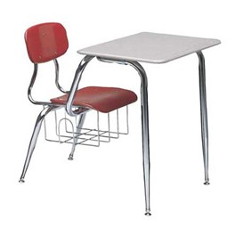 650 Series Combo School Desk - Shown w/ plastic top