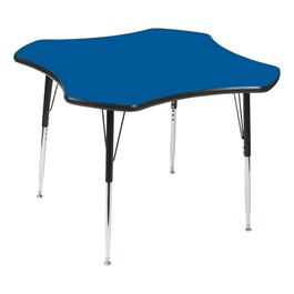 Clover 849 Series Activity Table - Blue top w/ black edge band