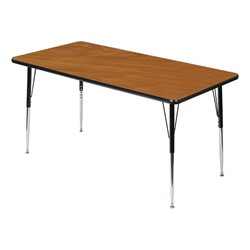 Rectangle 849 Series Activity Table - Cherry top w/ black edge band
