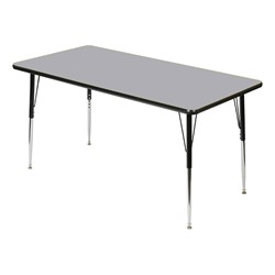 Rectangle 849 Series Activity Table - Dove gray top w/ black edge band
