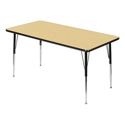 Rectangle 849 Series Activity Table - Maple top w/ black edge band