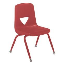 120 Series Preschool Chair w/ Painted Legs - Red