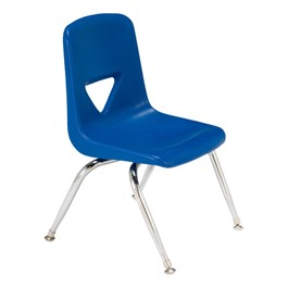 "120 Series Preschool Chair w/ Chrome Legs (13 1/2"" Seat Height) - Blue"