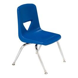 """120 Series Preschool Chair w/ Chrome Legs (11 1/2\"""" Seat Height) - Blue"""