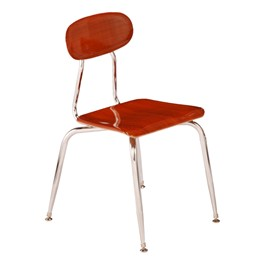 180 Series Solid Plastic Wood Grain School Chair - Wild Cherry