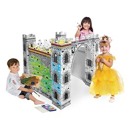 Cardboard Coloring Craft - Little Castle