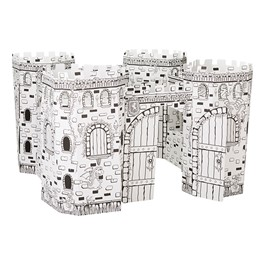 Cardboard Coloring Craft - Fortress