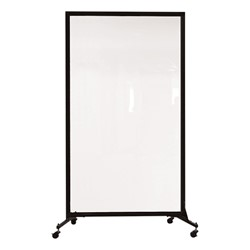 "6' 2"" H Clear Portable Room Partition"