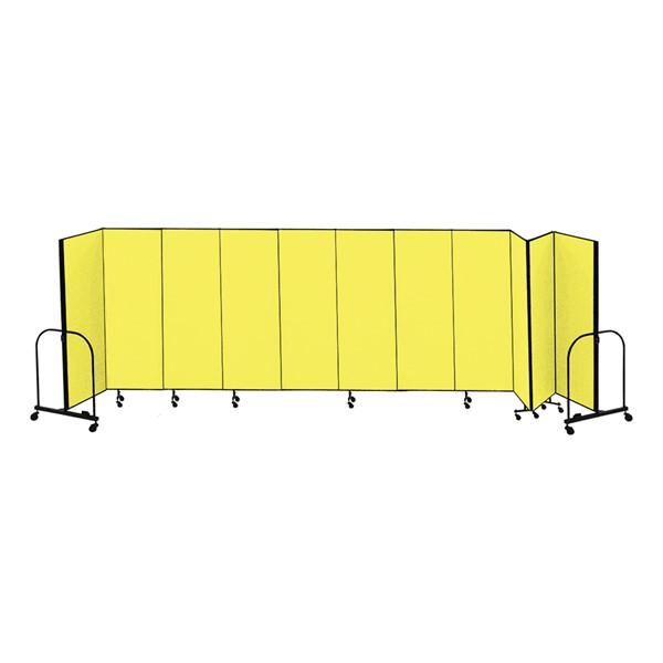 """4' H Freestanding Portable Partition - 11 Panels (20"""" 5' L)"""