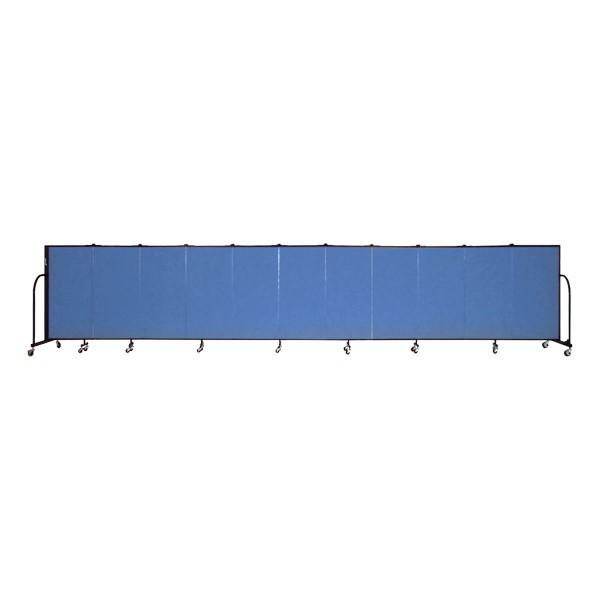 """4' H Freestanding Portable Partition - 11 Panels (20' 5"""" L)"""