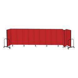 """4' H Freestanding Portable Partition - 13 Panels (24' 1"""" L)"""