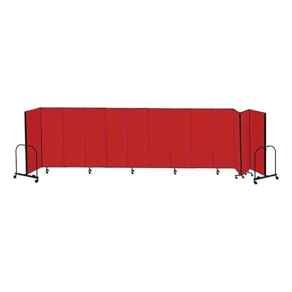 """6' 8"""" H Freestanding Portable Partition - 13 Panels (24' 1"""" L)"""