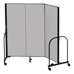 """4' H Freestanding Portable Partition - Three Panels (5' 9"""" L)"""