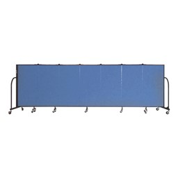 "4' H Freestanding Portable Partition - Seven Panels (13' 1"" L)"