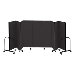 "4\' H Freestanding Portable Partition - Nine Panels (16\' 9"" L)"