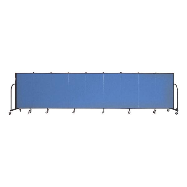 """4' H Freestanding Portable Partition - Nine Panels (16' 9"""" L)"""