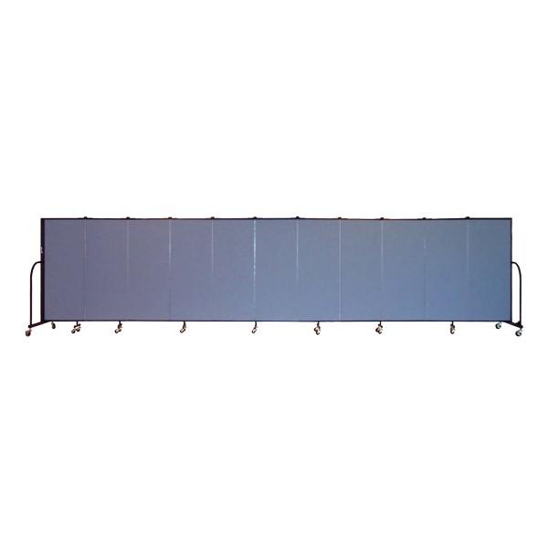 """6' H Freestanding Portable Partition - 11 Panels (20' 5"""" L)"""