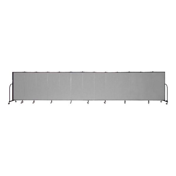 """5' H Freestanding Portable Partition - 13 Panels (24' 1"""" L )"""