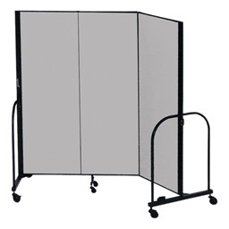 """5' H Freestanding Portable Partition - Three Panels (5' 9"""" L)"""