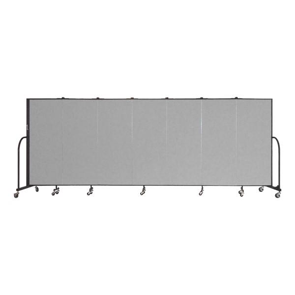 """5' H Freestanding Portable Partition - Seven Panels (13' 1"""" L)"""