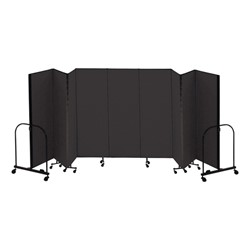5' H Freestanding Portable Partition - Charcoal fabric