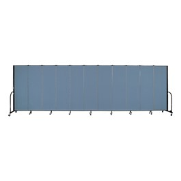 "6\' H Freestanding Portable Partition 11 Panels (20\' 5"" L) - Promo"