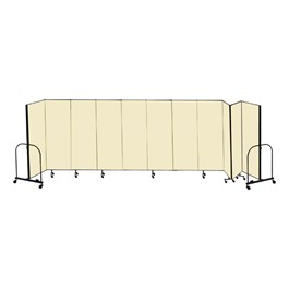 "6\' H Freestanding Portable Partition - 11 Panels (20\' 5"" L)"