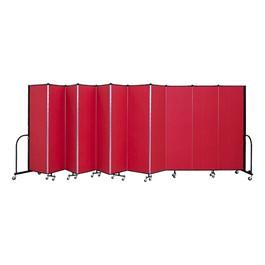 """8\' H Freestanding Portable Partition - 11 panels (20\' 5\"""" L)"""