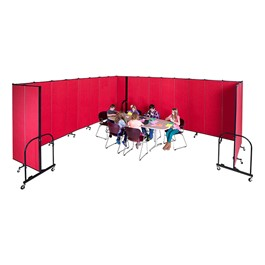 "7\' 4"" H Freestanding Portable Partition - Multiple units shown"