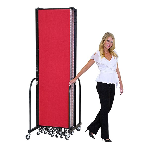 6' H Freestanding Portable Partition - Shown folded