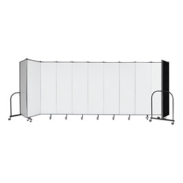 "6\' H Wet Erase Tackable Portable Partition - 11 Panels (20\' 5"" L)"