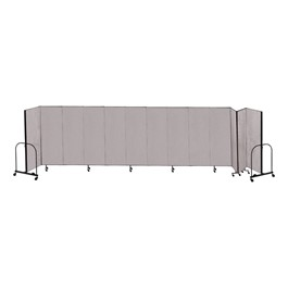 6\' H Freestanding Portable Partition w/ Stone Fabric - 13 Panels