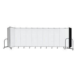 "6\' H Wet Erase Tackable Portable Partition - 13 Panels (24\' 1"" L)"
