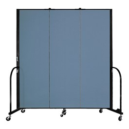 "6\' H Freestanding Portable Partition - Promo - Three Panels (5\' 9"" L)"