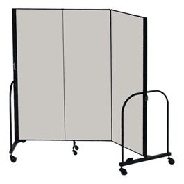 """6\' H Freestanding Portable Partition - Three Panels (5\' 9\"""" L)"""