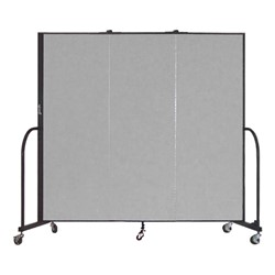"6' H Freestanding Portable Partition - Three Panels (5' 9"" L)"